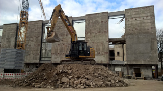 Erschütterungen durch Abriss von Gebäuden