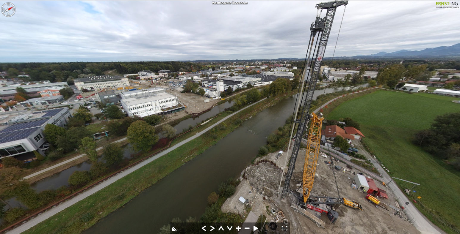 Baustellenbefliegung Mangfallbrücke Rosenheim