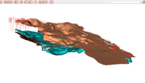 3-D-Modell von georeferenzierten Daten